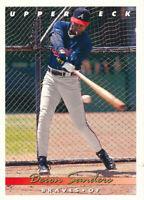 Deion Sanders 1993 Upper Deck #166 Atlanta Braves baseball Card