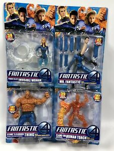 Fantastic 4 Lot Invisible Woman Thing Human Torch & Mr Fantastic 2005 New