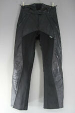 RICHA BLACK LEATHER BIKER TROUSERS + CE ARMOUR SIZE 12: WAIST 30/INSIDE LEG 30IN