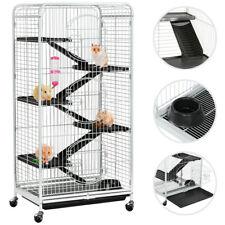 Grande Cage Rongeurs/Rats/Furets/écureuils/Chinchillas 6 niveaux à Roulette Blan