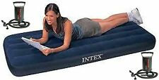 Premium Intex 68950 Single Inflatable Air Bed With Intex Double Quick Air Pump