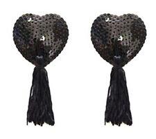 Bijou de seins , cache tétons nipples paillettes noir , accessoire beauté sexy