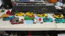VINTAGE MATCHBOX MODELS OF YESTERYEAR COLLECTION SET OF 11 CARS W/ DISPLAY CASE