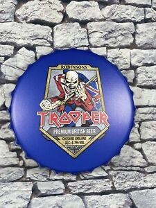 Iron Maiden Trooper British Beer Giant Bottle Cap Metal Wall Sign Metal Music
