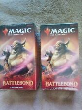 2 BATTLEBOND 4 BOOSTER PACK BOXES Factory Sealed 8 packs total!