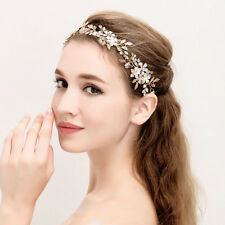 Bridal Headband Rhinestone Alloy Hair Accessory Flower Vintage Bead Hair Piece