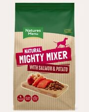 natures menu natural mighty mixer with salmon & potato adult raw dog food 2KG