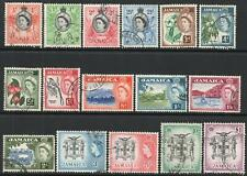 JAMAICA-1956-58 Set to £1 Sg 159-174 FINE USED V43953
