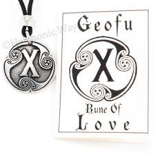 GEOFU Magical LOVE Rune Talisman Warrior Viking Nordic Amulet Pendant Odin Runic