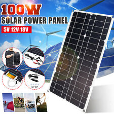 100W Mono Solar Panel USB 12V Flexible Panel For Car Auto RV Boat Phone Charger