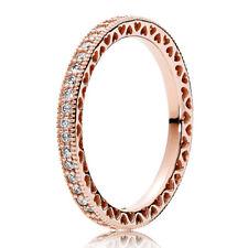 PANDORA ROSE Ring 180963 CZ Herzen