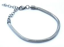 LADIE'S SMOOTH CLASSIC LINK  CHAIN  BRACELET STAINLESS STEEL