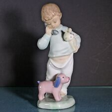 """Nao Lladro #1044 """"Hello Mommy� Little Boy on Phone Glossy Figurine retired 1987"""
