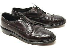 Vintage Hanover Sheppard Hommes Coque Cordovan Chaussures 11 D/B Bordeaux Bout