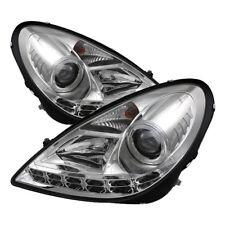 Mercedes Benz 05-11 SLK Chrome DRL LED Projector Headlights Set 280 300 350 55