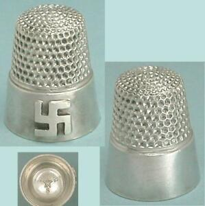 Rare Antique Sterling Silver Child's Thimble by Waite, Thresher Co * Circa 1890s
