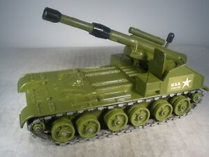 Dinky Toys Military Army 155MM MOBILE GUN Battle Lines #654 GREAT CONDITION