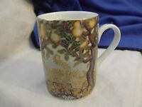 Dept 56 Enchanted Forest Mug, Pear Trees with Gold Highlights, EUC