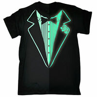 Glow In The Dark Tuxedo MENS T-SHIRT tee birthday costume fancy dress funny gift
