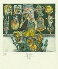 Exlibris Etching  Bookmark:  Harry Jurgens