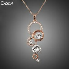 Fashion Austrian Crystal Choker Chain Pendant 18K Rose Gold Plated Necklace