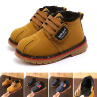 Kids Baby Child Toddler Girls Boys Winter Warm Shoes Martin Snow Boots Sneakers