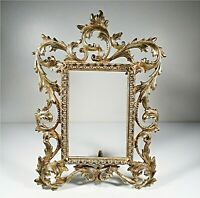 ANTIQUE SOLID BRASS FRAME ORNATE VICTORIAN STYLE