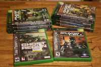 Large Lot of 9 Tom Clancy Xbox Games Ghost Recon Splinter Cell Rainbow Six
