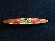 Antique Art Nouveau Cloisonne Enamel Dragonfly Pin Brooch C-Clasp