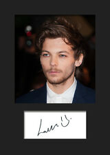 LOUIS TOMLINSON (One Direction) #3 Signed A5 Mounted Photo Print - FREE DELIVERY