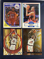 Charles Barkley 4 Card Vintage Lot 1990 Inserts Hall Of Fame 76ers Chrome Fleer1