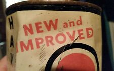 Vintage Rare 'New and Improved' Havoline Used Motor Oil Can