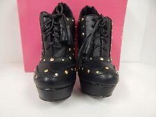 """ShoeDazzle Naara Black Studs Tassel Tie Stiletto 5.5"""" Heels Platform Size 5.5 M"""