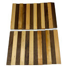 "24 Pack,  3/4"" x 2"" x 18"",  12 Black Walnut + 12 Yellow Pine Wood Cutting Lumber"
