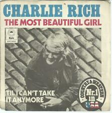 45 TOURS 2 TITRES / CHARLIE RICH  THE MOST BEAUTIFUL GIRL