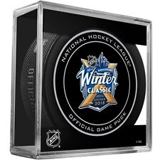 2018 NHL Winter Classic Hockey Collectors Puck In Case
