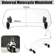 Motorcycle Windshield Adjustable Clip On Windscreen Extension Clear Universal AU