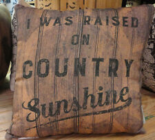 I was raised on Country Sunshine -- Throw Pillow- Two Sided-Primitives By Kathy