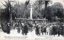 CPA 75 PARIS PENDANT LE BOMBARDEMENT 1918 LES CHEVAUX DE BOIS AUX CHAMPS ELYSEES