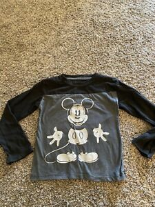 boys black and gray disney mickey mouse shirt size 4t #17