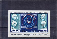 Qatar 1966 - Space Rendezvous Mini Sheet - SG-MS140, MNH, imperf.