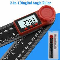 0-200mm Numérique Angle Finder Goniomètre Rapporteur Mesure Outil Jauge Règle