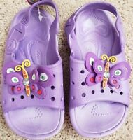 Girls Toddler Baby Sandals Shoes  Size 5 6 7 8 9 10  Purple With Butterfly  New