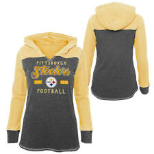 Pittsburgh Steelers NFL Girls' Long Sleeve Hoodie Sweatshirt Medium (10/12) NWT