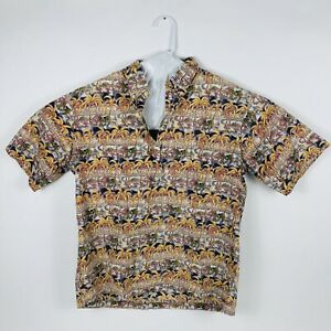 Reyn Spooner XL Miley Men's Short Sleeve Cotton Button Up Palm Shirt Hawaiian