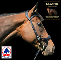 2019 Easytrek Anatomical Quality Leather Bridle with Free Deluxe Grip Reins