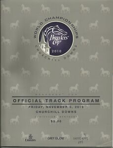 10 - 2010 Breeders Cup @ Churchill Downs Fridaqy 11/5 programs in MINT Condition