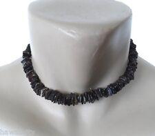 "Hawaiian Jewelry Dark Shell Necklace from Hawaii 16"""