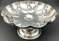 Antique Warwick Plate S.P. on Copper Silver Plate Pedestal Candy Nut Dish 201608