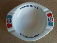 PEPSI COLA PEPSICO VINTAGE Large ASHTRAY FRENCH GLASS MAN CAVE RETRO